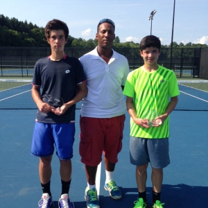 Boys 16s Champion Connor Fu of Andover, MA and Finalist Clayton Thompson of Providence, RI.